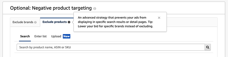 Amazon PPC Guide: Negative product targeting