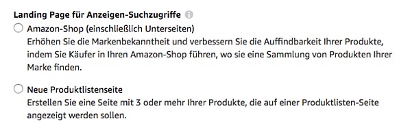 Amazon Sponsored Brands - Wähle die Landing Page selbst