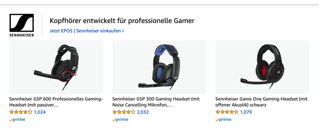 Amazon Sponsored Brands_Product collection_Beispiel