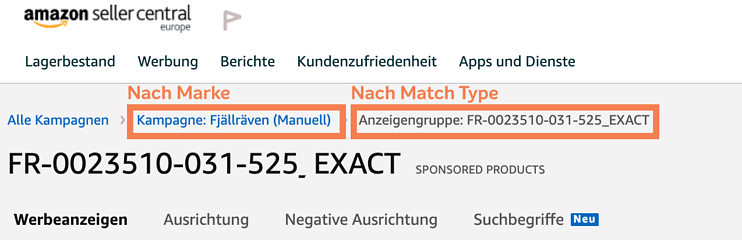 Amazon Sponsored Products_Kampagnen Optimierung_Naming Conventions 1274x431