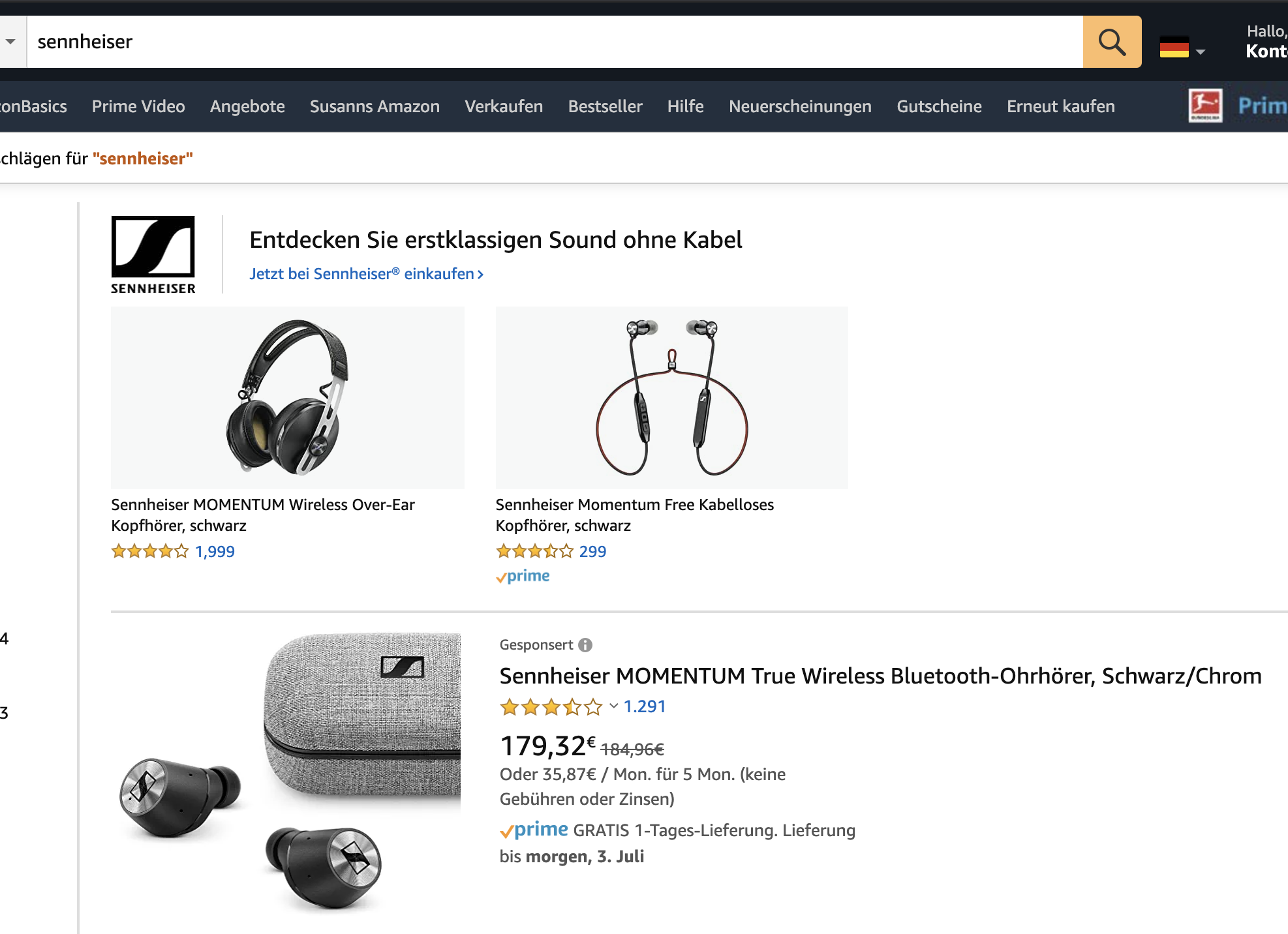 markenkeywords bei amazon ppc